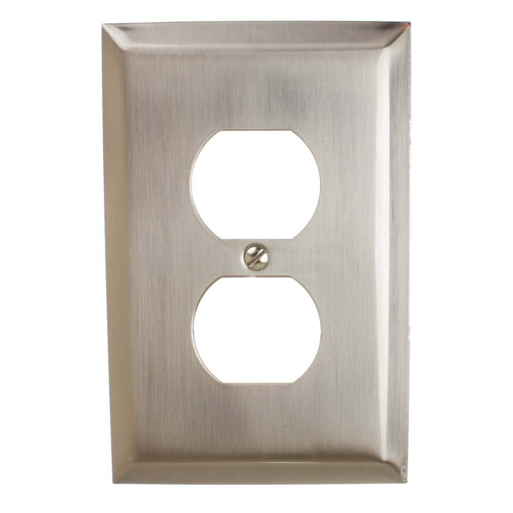 Single Duplex Outlet Beveled Edge Wall Plate Cover - 200D