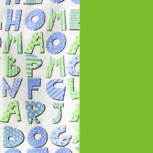 Puzzled Green Mitten