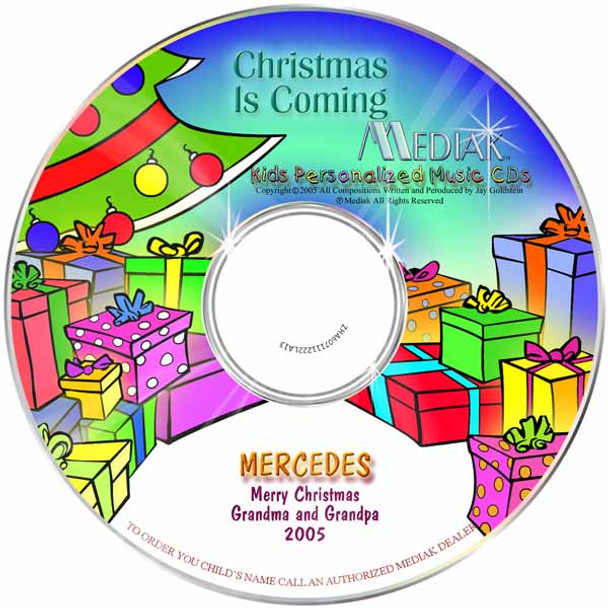 Christmas is Coming Personalized Kids CD