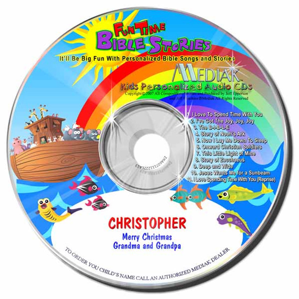 Fun Time Bible Stories Personalized Kids Music CD