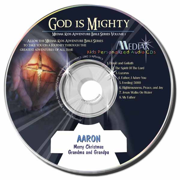 God is Mighty Personalized Kids Music CD