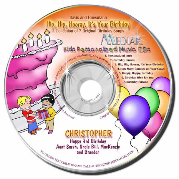 Hip-Hip-Hooray Its Your Birthday Personalized Kids Music CD