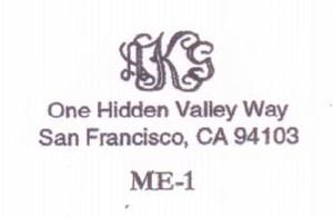 Monogram Address #1
