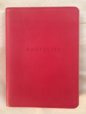 Red Leather Smyth-sewn Address Book - ONE PIECE ONLY