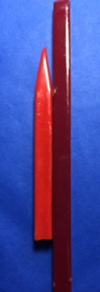 """Shown here Red Bankers Sealing Wax (left 5.5"""" long x 3.8"""" square) &  Deep Red Bankers Sealing Wax (Right 8.5"""" long x 3/8"""" square)"""