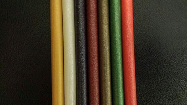 Photo 3 - Left to right -Sparkle colors: Gold, White, Navy, Burgundy, Raw Platinum, Spring Green, Red