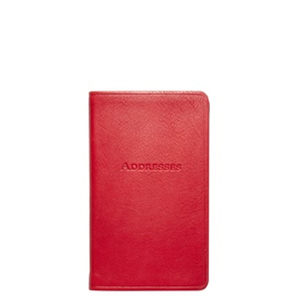 Red Leather Address Book