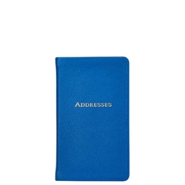 Ocean Blue Leather Address Book