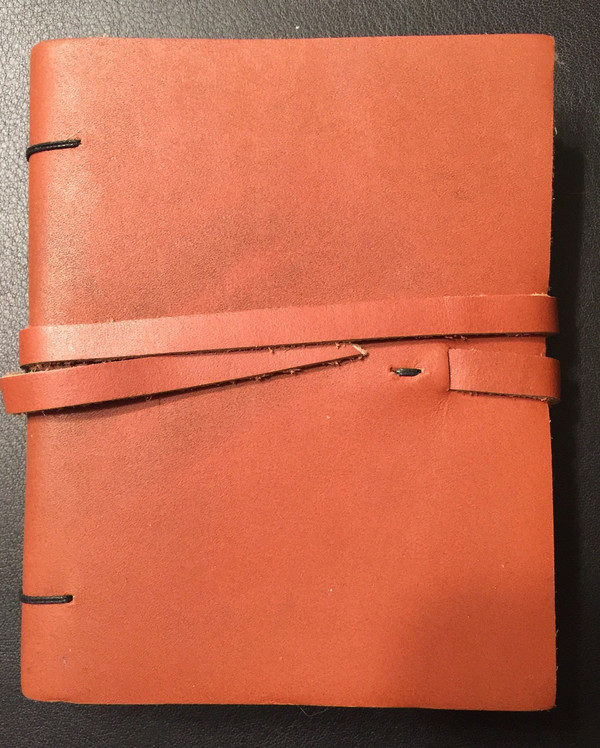 Recycled Leather Hand made paper Journal #3 - paper is made with wild flower blossoms - email or call: info@scribesdelight.com ~ 1.800.866.7367  Save over 50% - 19.00