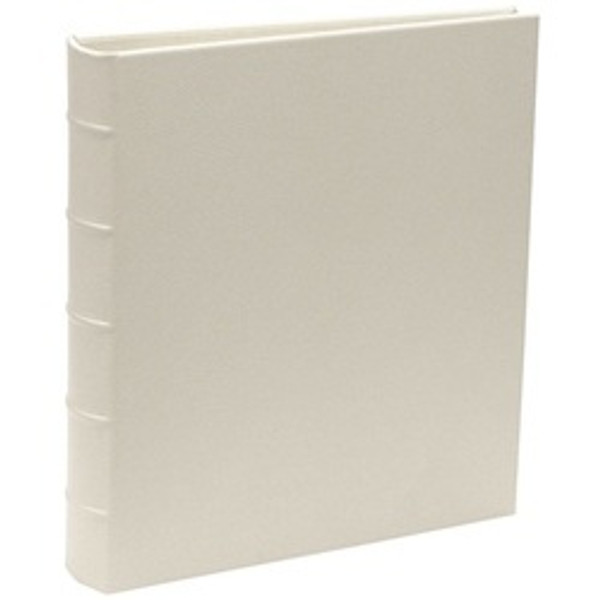 White Leather Wedding Photo Album - Loose-Leaf Archival Photo Pages