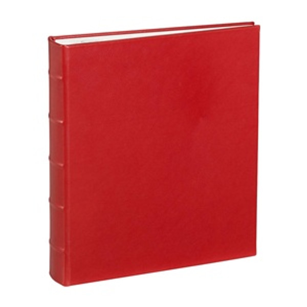 Traditional Red Leather Loose-Leaf Photo Album