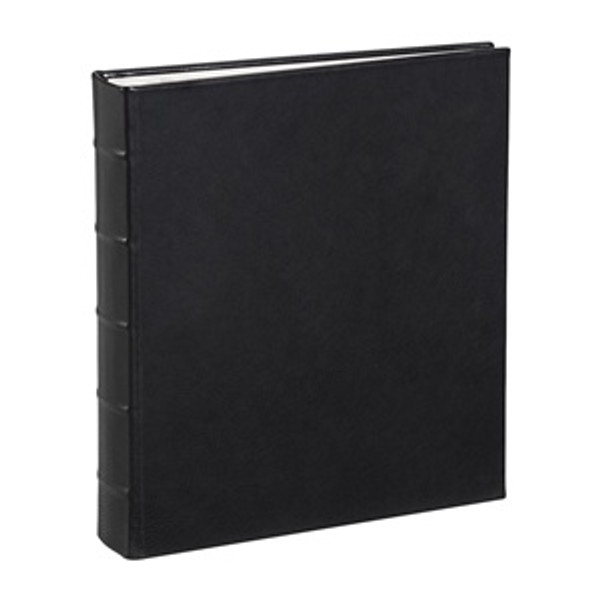 Traditional Black Leather Loose-Leaf Photo Album
