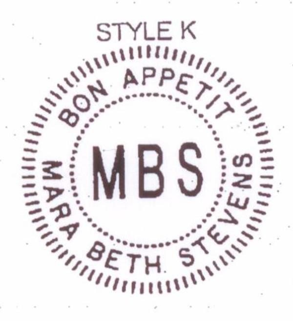 Style #K - Bon Appetit - for every aspiring Julia Child!