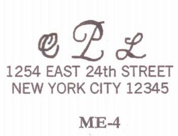 Monogram Address #4