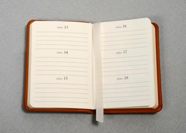 Birthday Book - open view