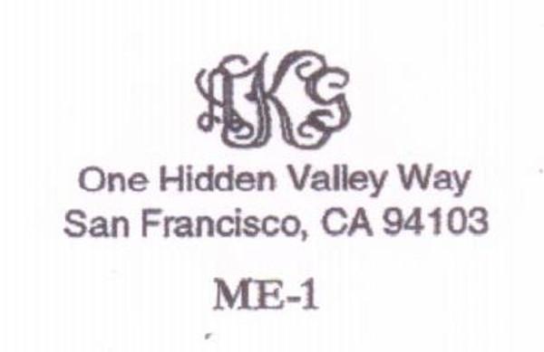 Monogram with Address