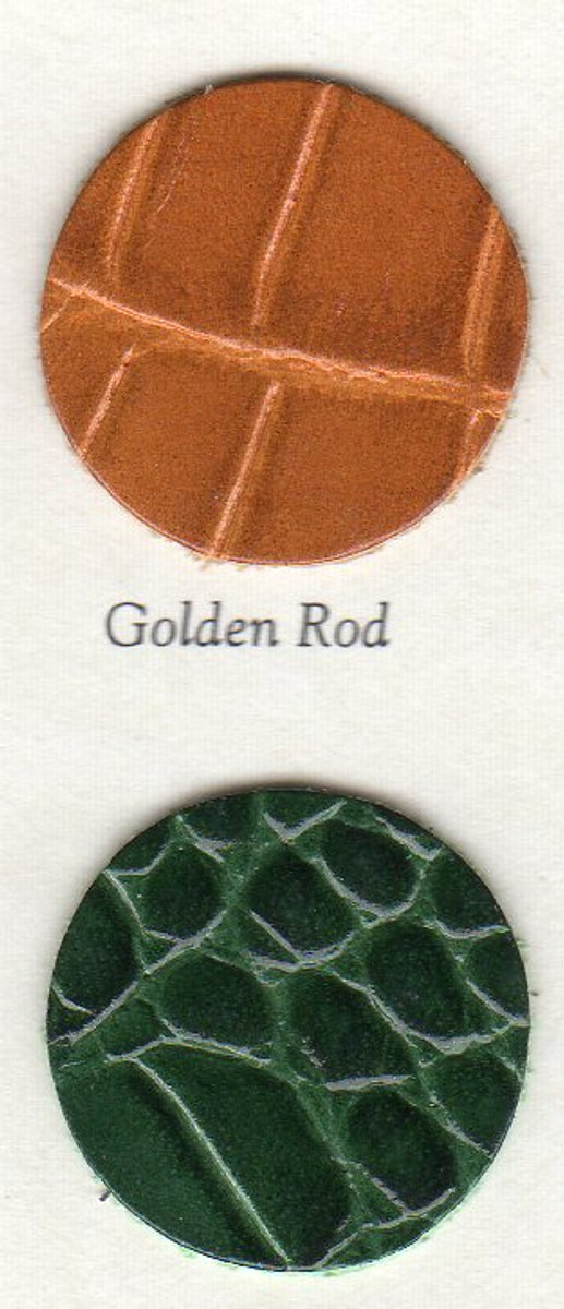 iPad Mini Croc embossed Colors - Golden Rod and Forest Green
