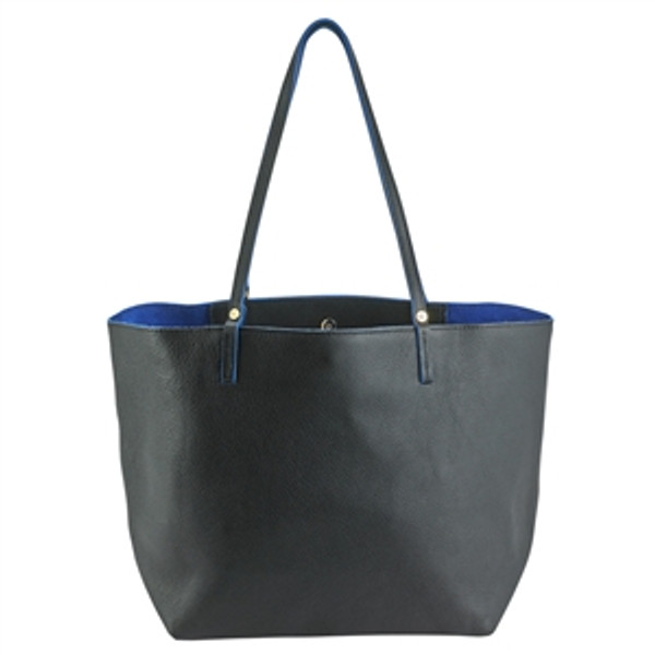 Black Leather Tote reverse side