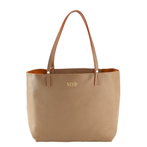 Sand Leather Tote