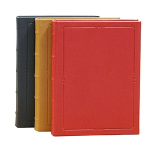 Robert Frost Journal - Smooth Traditional Leather Colors - Black, British Tan, and Red