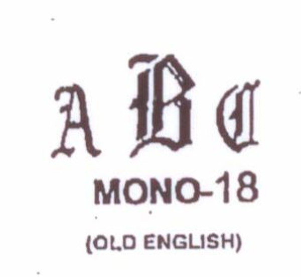 Center initial option: style Mono18