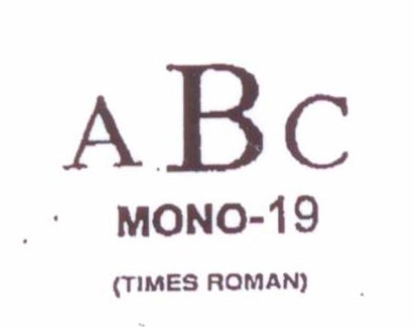 Center initial option: style Mono19