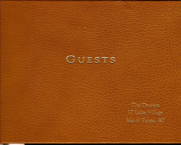 British Tan Leather Guest Book - Sample Engraving