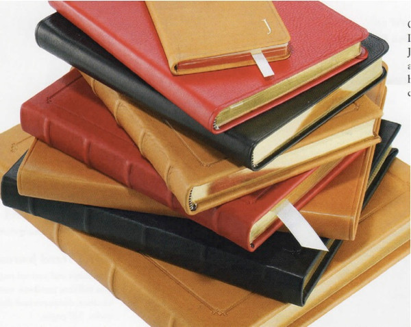 """Leather Hard Cover Wordsworth Journal 7 x 9 1/4"""""""