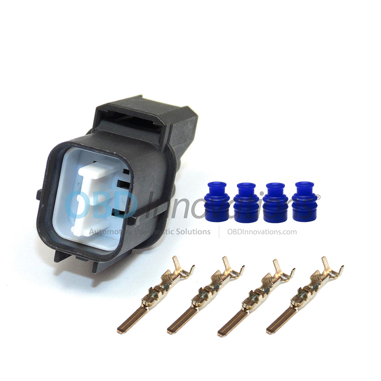 o2 oxygen sensor male connector harness kit for 4 wire