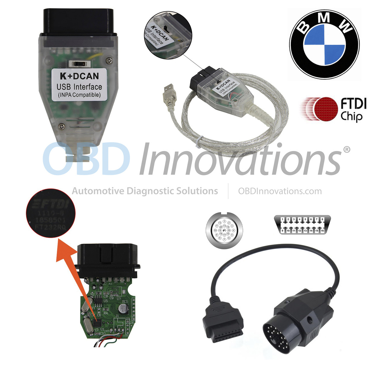 Bmw Inpa Ediabas Ncs K D Can Ftdi Interface Jumper Switch 20 Pin Adapter Cable