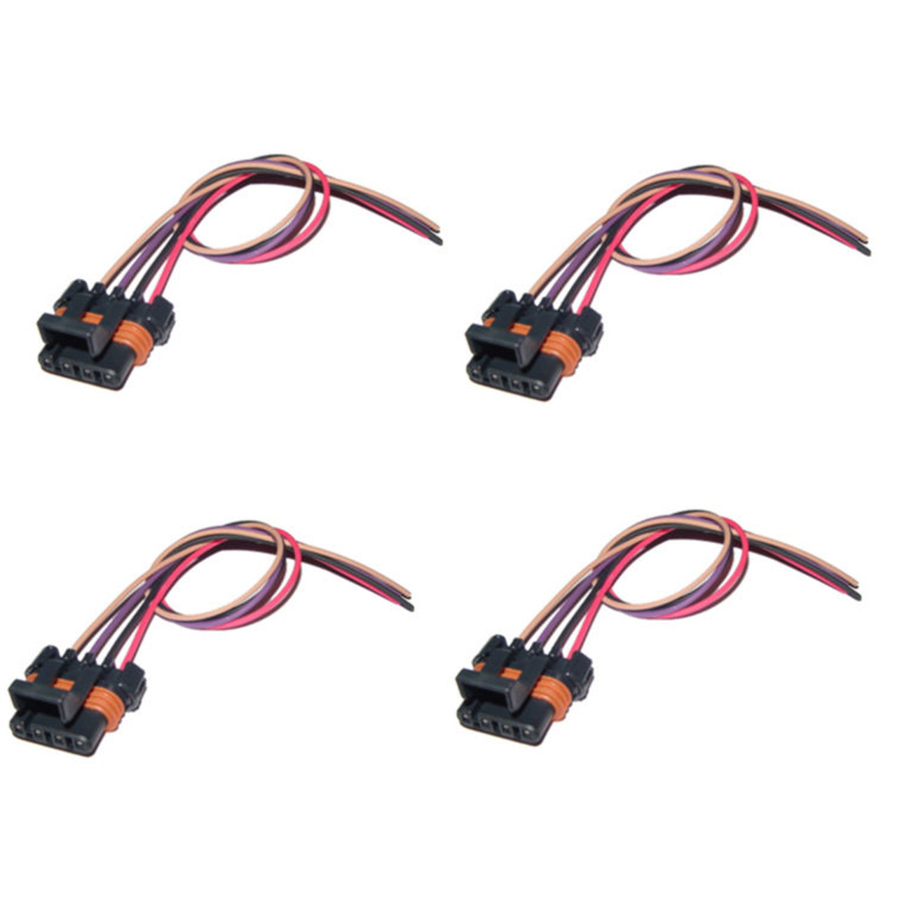 4x pack gm ls1 ls6 ignition coil pack connector harness pigtail gm coil  pack wiring #39 at coil and distributor wiring diagram