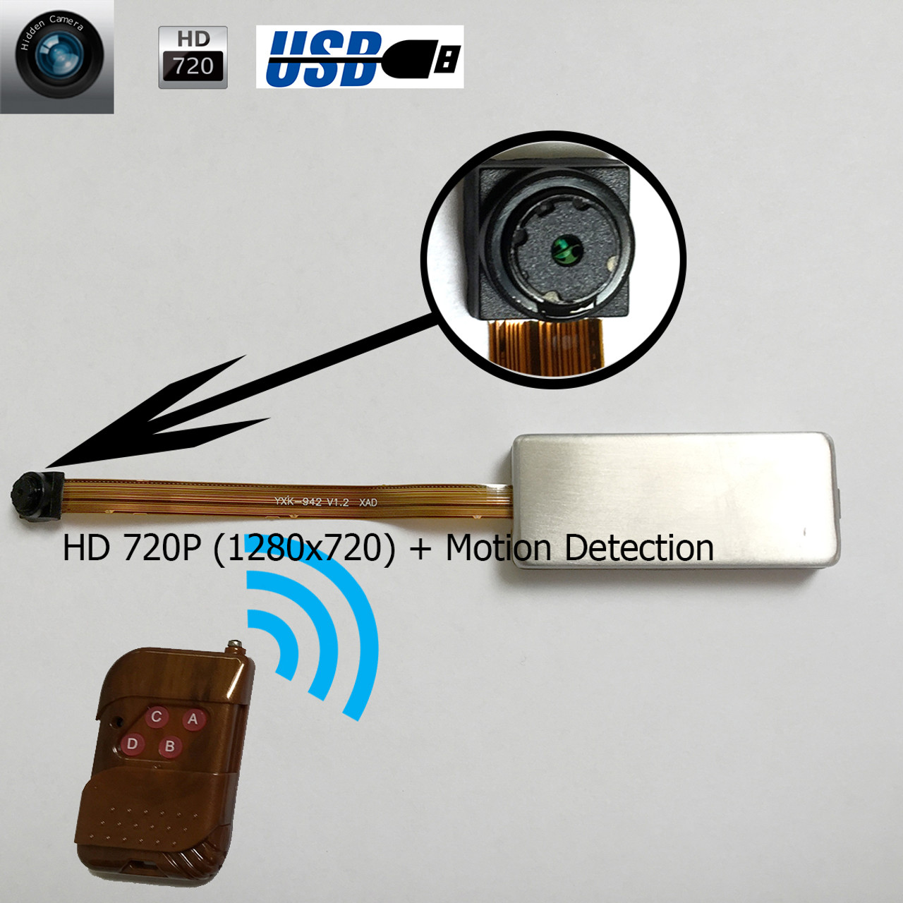 Mini Wired 6Led CMOS CCTV Security Camera Night Vision