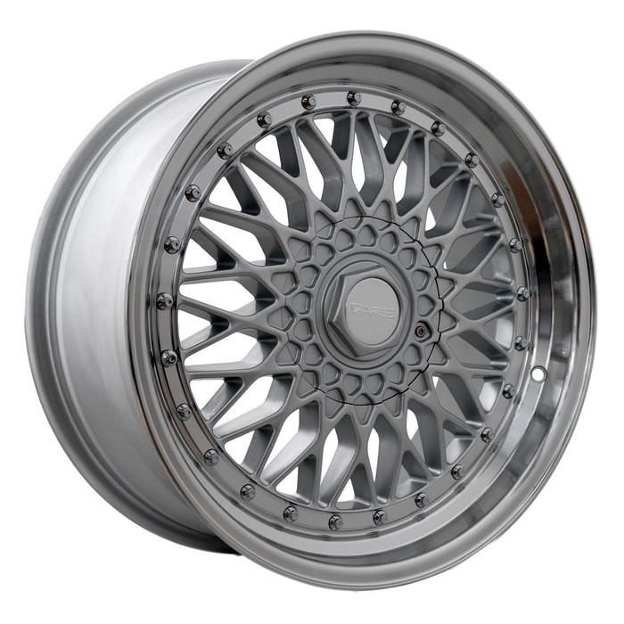 16x8.0 DRRS 4x100/108 ET25 CB73.1 Silver polished lip - max load 690kg