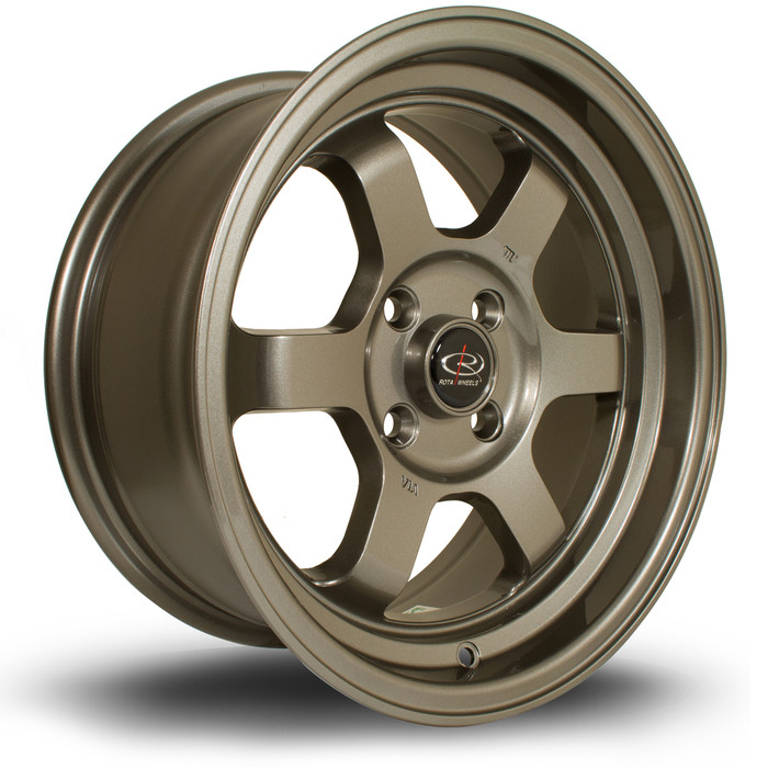 Rota Grid-V 15x7 ET20 4x108 Bronze srbpower.com