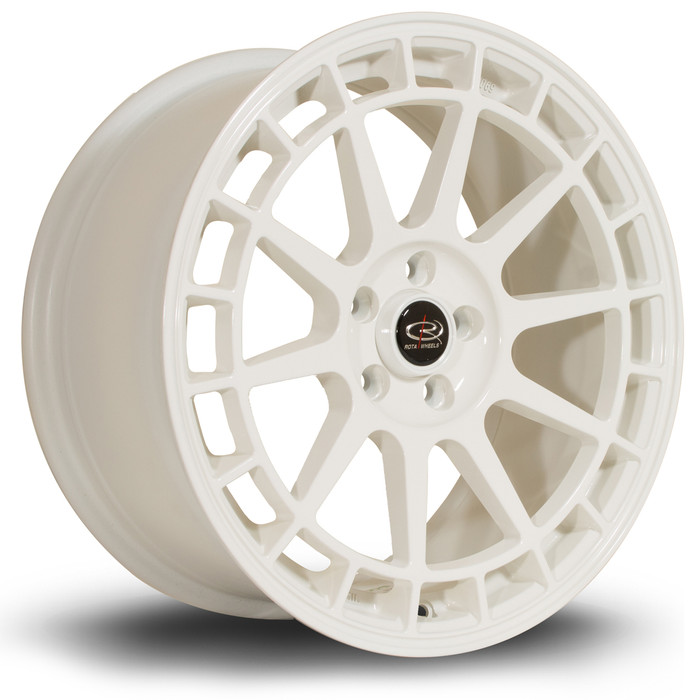 Rota Recce 17x8 ET40 4x108 White srbpower.com