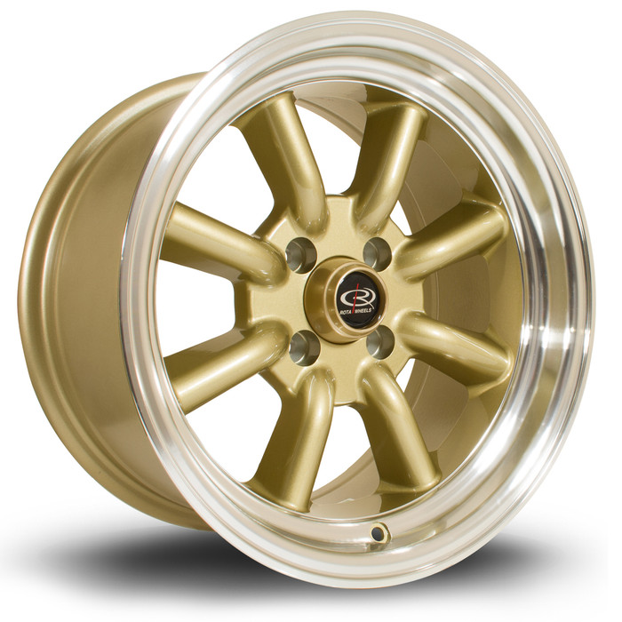 Rota RKR 15x8 ET0 4x100 RLGold srbpower.com