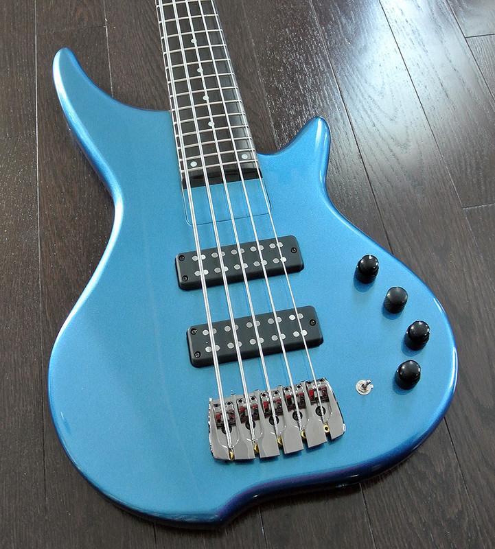 "TUNE TJH-51 - 5 String Active/Passive Bass with 35"" Scale Ebony Fingerboard - Custom Model"