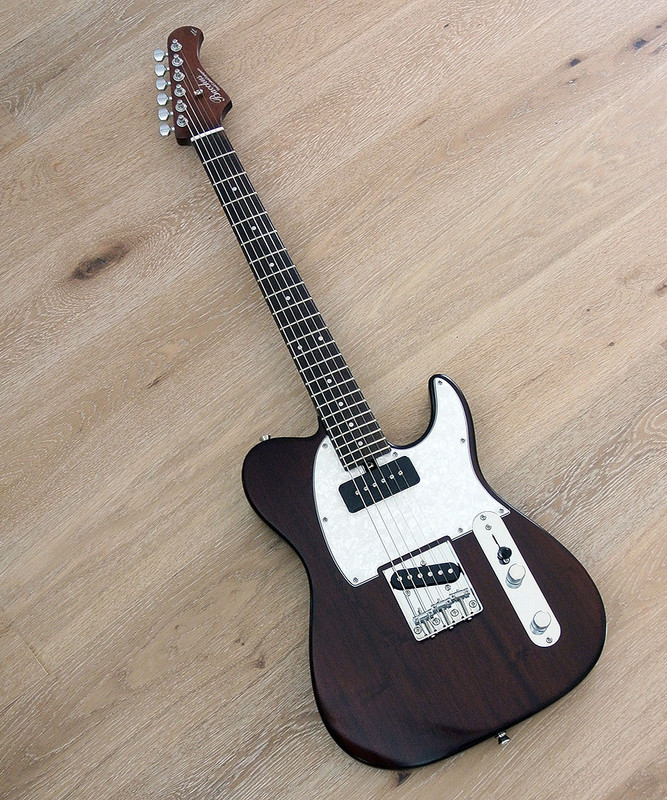 Bacchus Global Series - Tactics PLD All Mahogany  - Electric Guitar in Brown Oil Finish