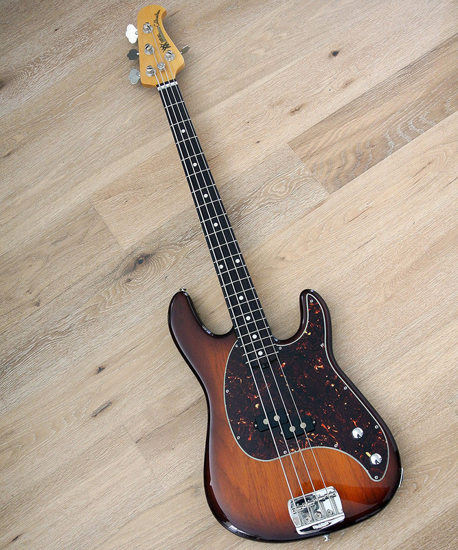 Ernie Ball Music Man Cutlass 4 string Electric Bass Guitar in Heritage Tobacco - Mint