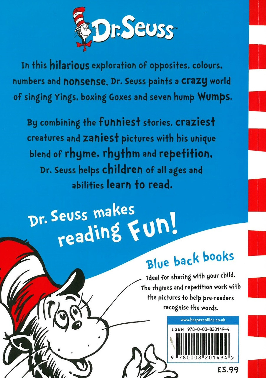 One Fish Two Red Blue Dr Seuss Paperback