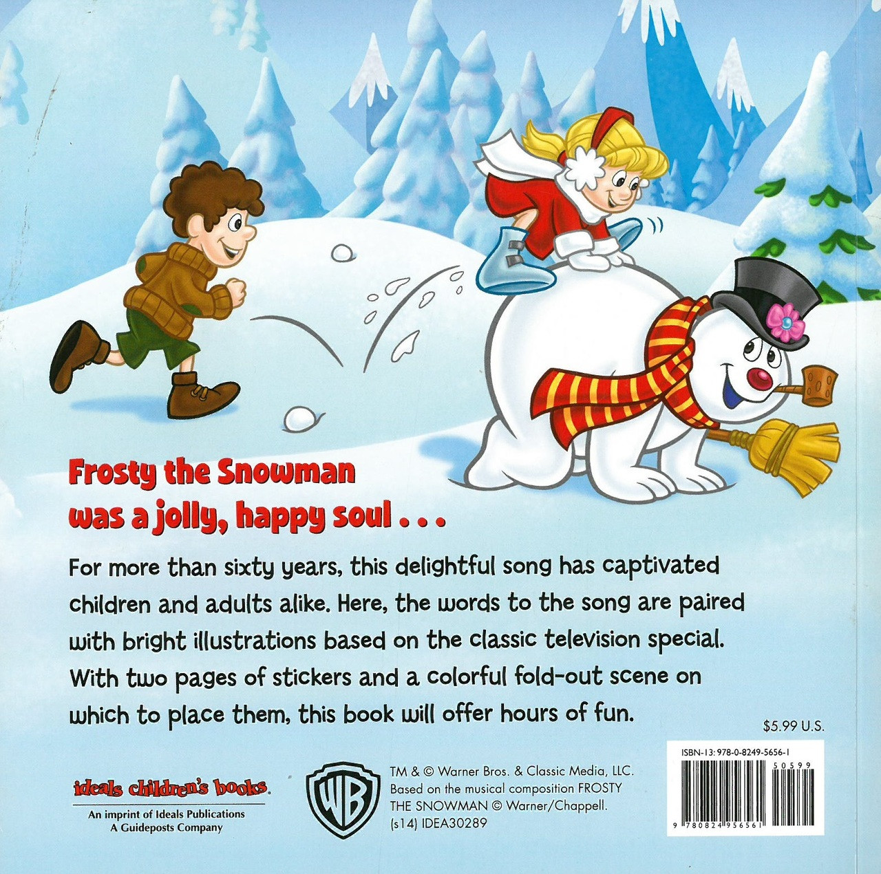 Frosty The Snowman Includes Stickers Paperback Books By Sticker Activity My Big And Mighty