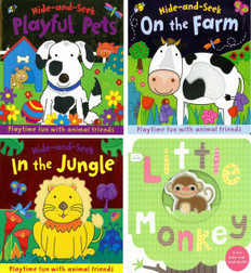 Animals Hide & Seek: Set of 4 (Board Book)