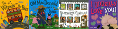 Kate Toms Nursery Rhymes: Set of 4 (Paperback & Hardcover)
