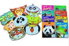 Animal Party Pack: Set of 8 (Paperback with Masks)
