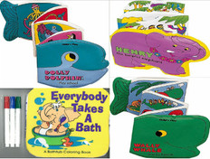 Squeaky Clean Animal Bath Books Set of 4