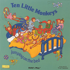 Ten Little Monkeys Jumping on the Bed ( 17x17 Big Paperback)