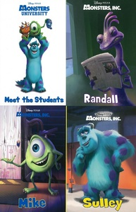 Disney Pixar Monster's Inc.: Monsters In A Box Set of 4 (Board Book)