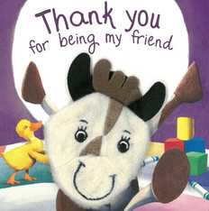 Thank You For Being My Friend: Finger Puppet (Board Book)