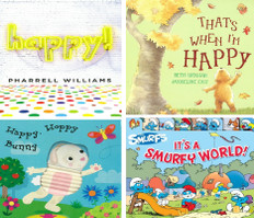 HAPPY!  Set of 4 (Board Book)