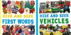 Hide And Seek: First Words & Vehicles Set of 2 (Big Paperback)